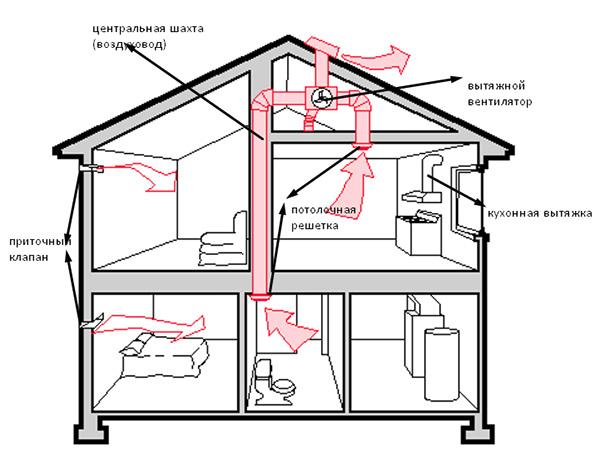Как сделать вентиляцию в частном доме видео