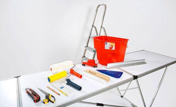 инструменты для потолочных работ
