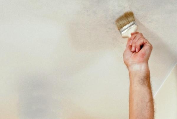 как убрать пятна на потолке фото 4