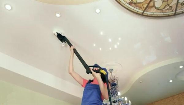 как убрать пятна на потолке фото 5