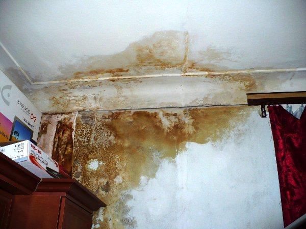 как убрать желтые пятна на потолке фото 2
