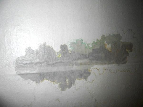 как убрать желтые пятна на потолке фото 3