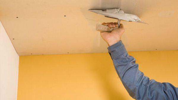 как заделать трещину на потолке фото 4