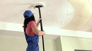 Чем мыть натяжной матовый потолок