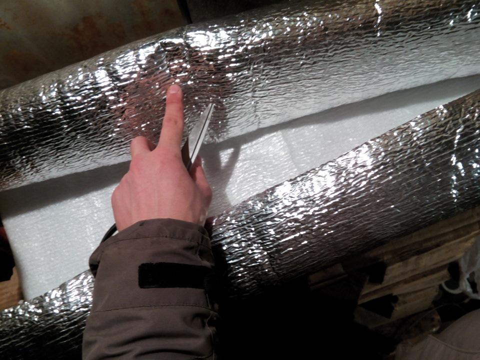 фольгоизолон для утепления потолка