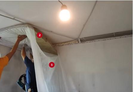 шумоизоляция потолка в квартире под натяжной потолок фото 7