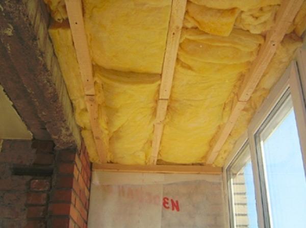 утепление потолка на балконе фото 4