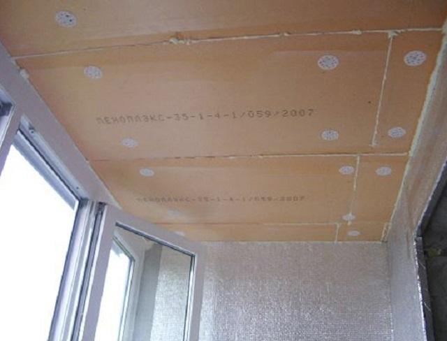 утепление потолка на балконе фото 5