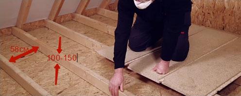 утеплить потолок в деревянном доме