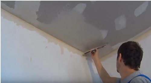 как шпаклевать потолок из гипсокартона фото 4