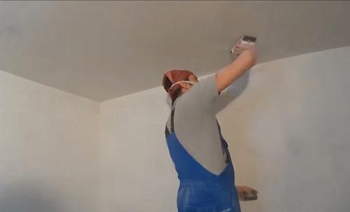 как шпаклевать потолок из гипсокартона фото 5