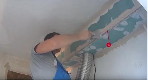 как шпаклевать потолок из гипсокартона фото 7