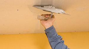 Шпаклёвка потолка под покраску своими руками
