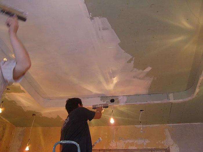 Ремонт гипсокартонного потолка фото 5