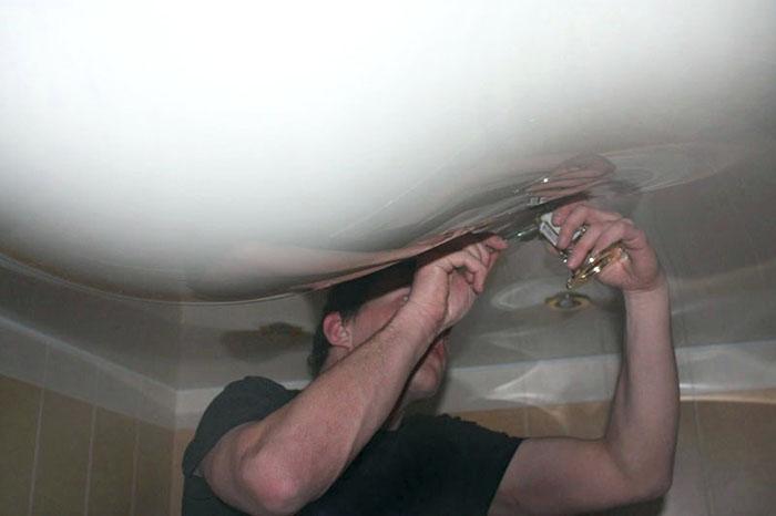 Ремонт натяжных потолков фото 4