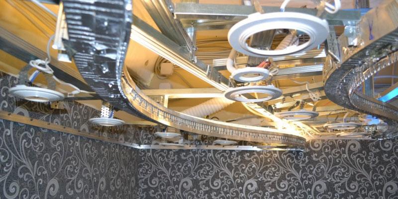 двухуровневые натяжные потолки фото 1