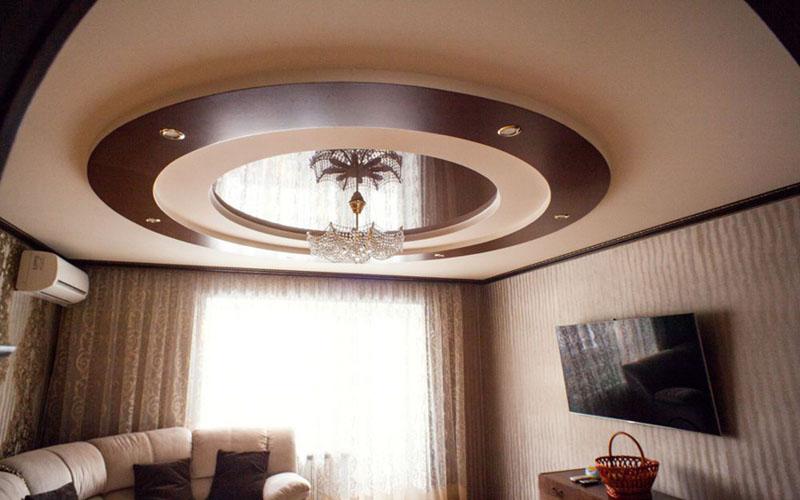 двухуровневые натяжные потолки фото 6