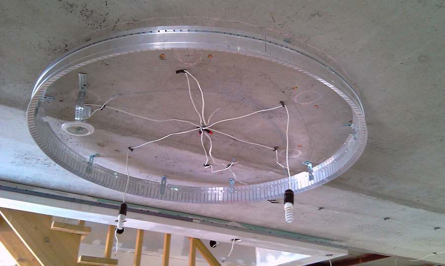 двухуровневые натяжные потолки фото 8