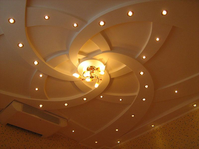 Двухуровневые потолки их гипсократона фото 1