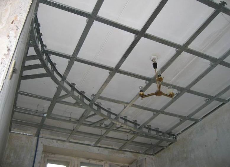 Двухуровневые потолки их гипсократона фото 5