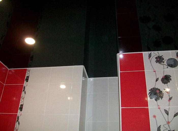 натяжной потолок в ванной фото 5