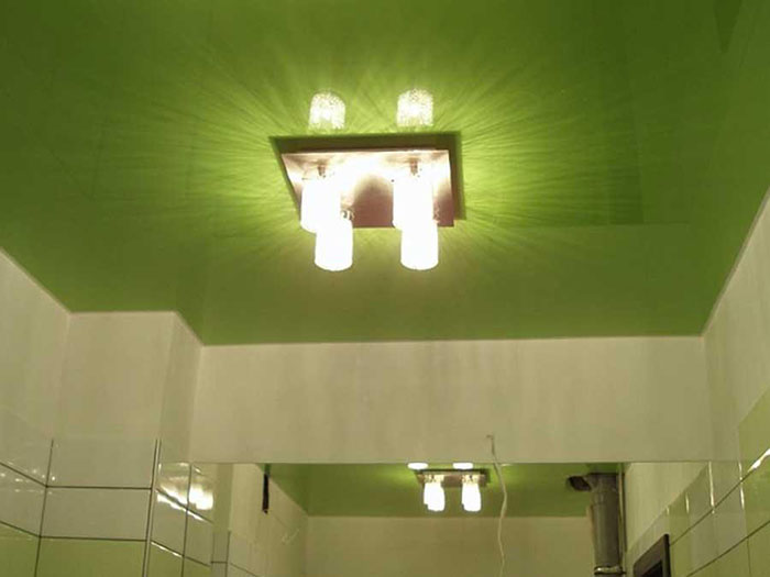 натяжной потолок в ванной фото 6