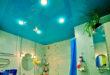 натяжной потолок в ванной фото 8